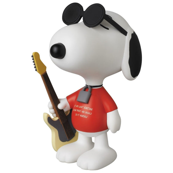 Medicom Ultra Detail Figure Peanuts Snoopy Punk Rock W/ Guitar Sunglasses Series 4