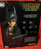 "6"" Mezco Stylized Roto 1989 Batman Tim Burton's Michael Keaton Figure With Moveable Eyes"