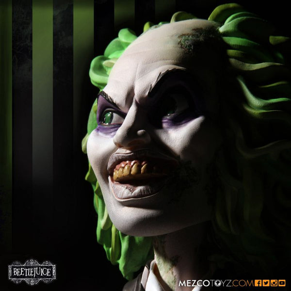 "Beetle Juice Michael Keaton 6"" Mezco Stylized Roto Figure Halloween Show Doll"