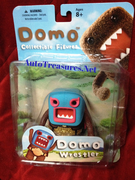 Mezco Domo Planet Wrestler Action Figure Belt Title Buckle Mask Cape 2012