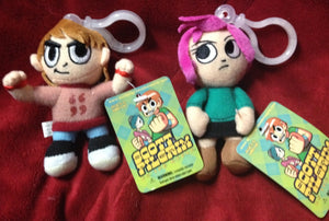 Mezco 2 Scott Pilgrim Ramona Flowers Vs World 4 Plush Clip On Key Chain Backpack