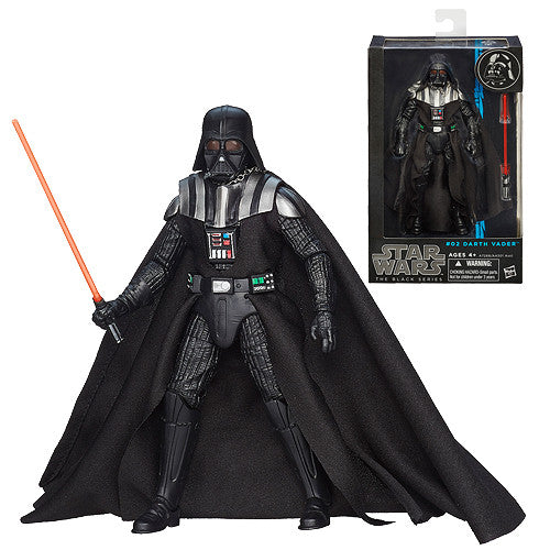 "Hasbro Star Wars Darth Vader 02 Black Series 6"" Action Figure JEDI Light Saber"