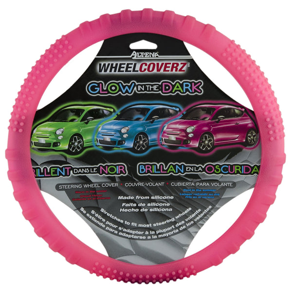Pink Glow In Dark Car Truck Steering Wheel Cover