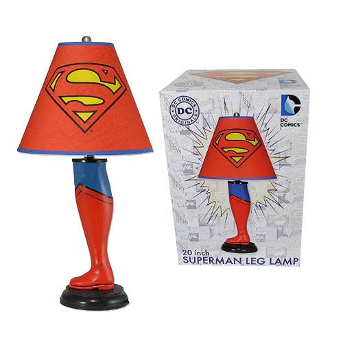 DC Comic Book Superman Neca Leg Lamp Classic Superhero Shoe 20