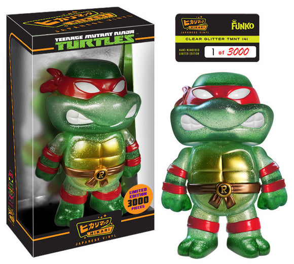 TMNT Hikari LE Sofubi Teenage Mutant Ninja Turtles Raphael Turtle Glitter Vinyl Figure