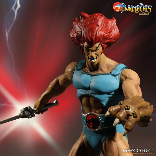 "Mezco Thundercats Cartoon Mega Scale Lion-0 14"" Evil Action Deluxe Figure 2 Faces"