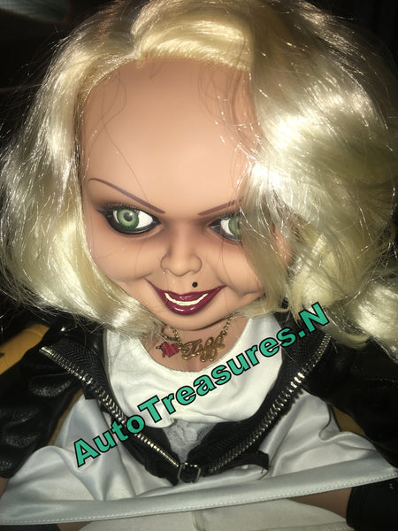 "15"" Childs Play Mega Scale Bride of Chucky Mezco Tiffany Talking Doll 2016"