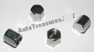 Triple Chrome Metal Chrome 4 Tire Valve Stem Caps Car Truck Motorcycle Bicycle