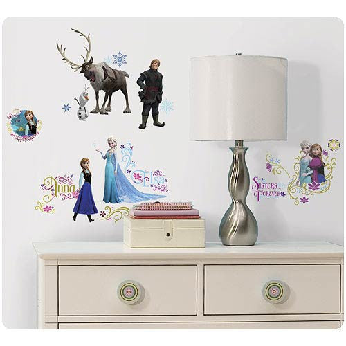 Disney Frozen Princess Elsa Anna Olaf Kristoff Movie Wall Room Decals Sticker