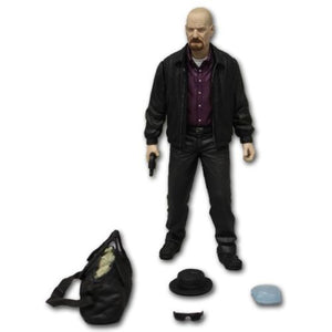 "Breaking BadWalter White As Heinesberg 6"" Action Figure with Replica Blue Meth Crystal Mezco Toyz"