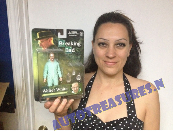 Breaking Bad Walter White Heisenberg In Blue Haz-Mat Suit 6-Inch Action Figure Mezco Toyz Variant