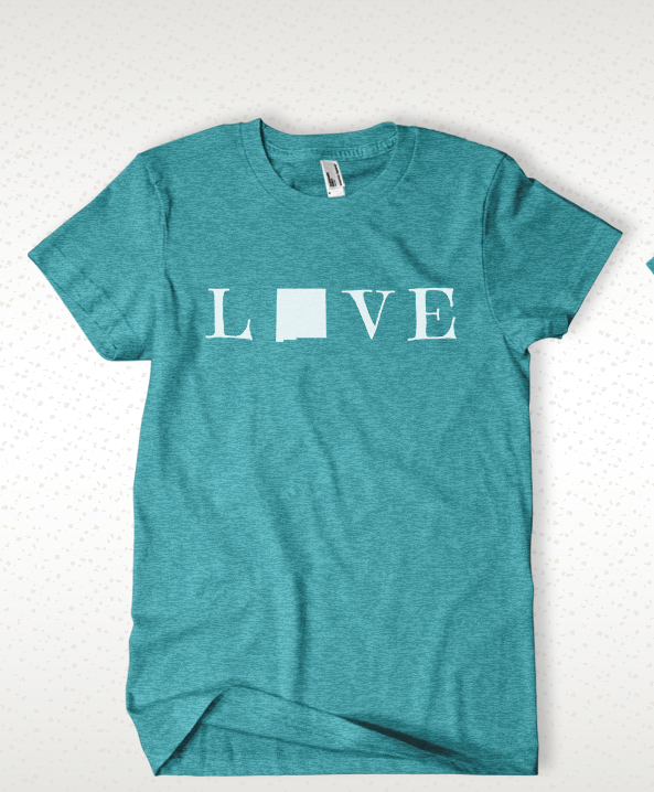 Love New Mexico Tee- Teal
