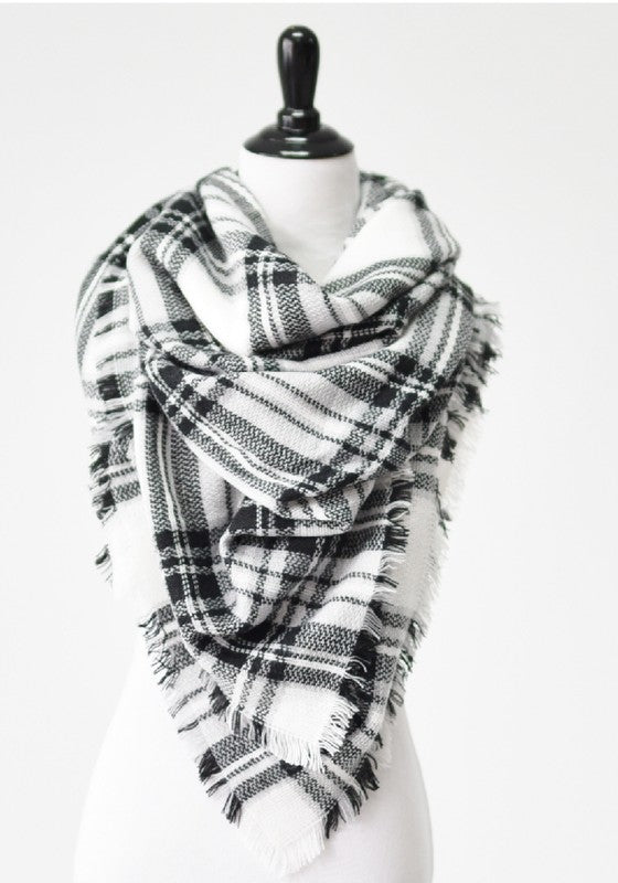 Plaid Blanet Scarf (Multiple Colors)