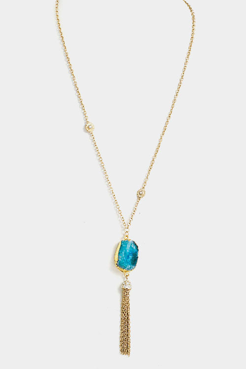 Druzzy Necklace- Blue