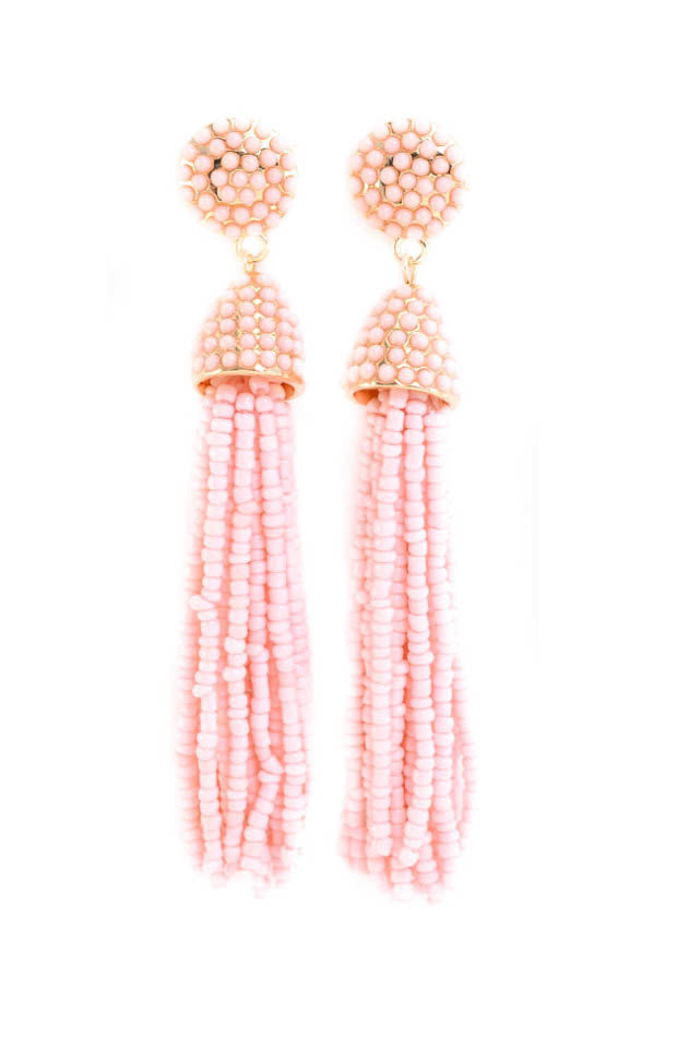 Santa Fe Earrings- Light Pink