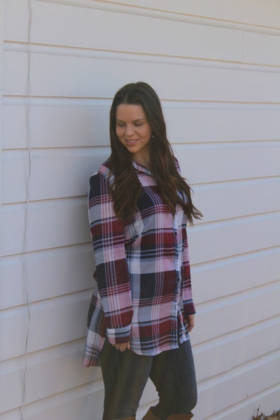 Purple Plaid Top