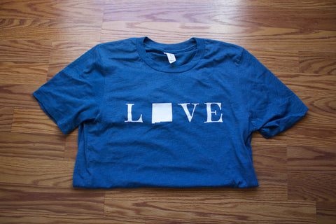 Love New Mexico Tee- Steel Blue