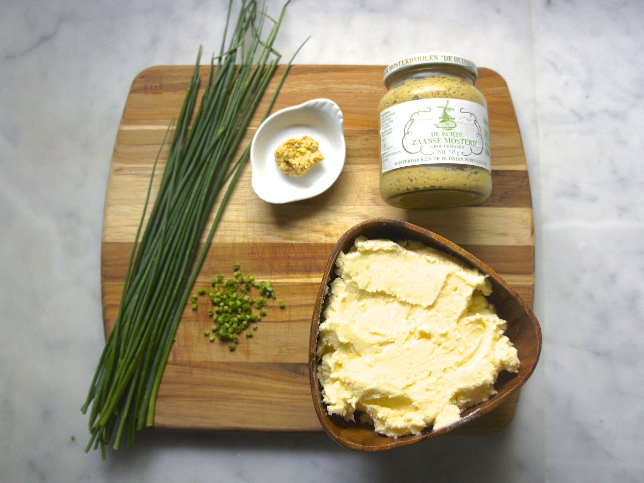 Grainy Mustard Chive Butter
