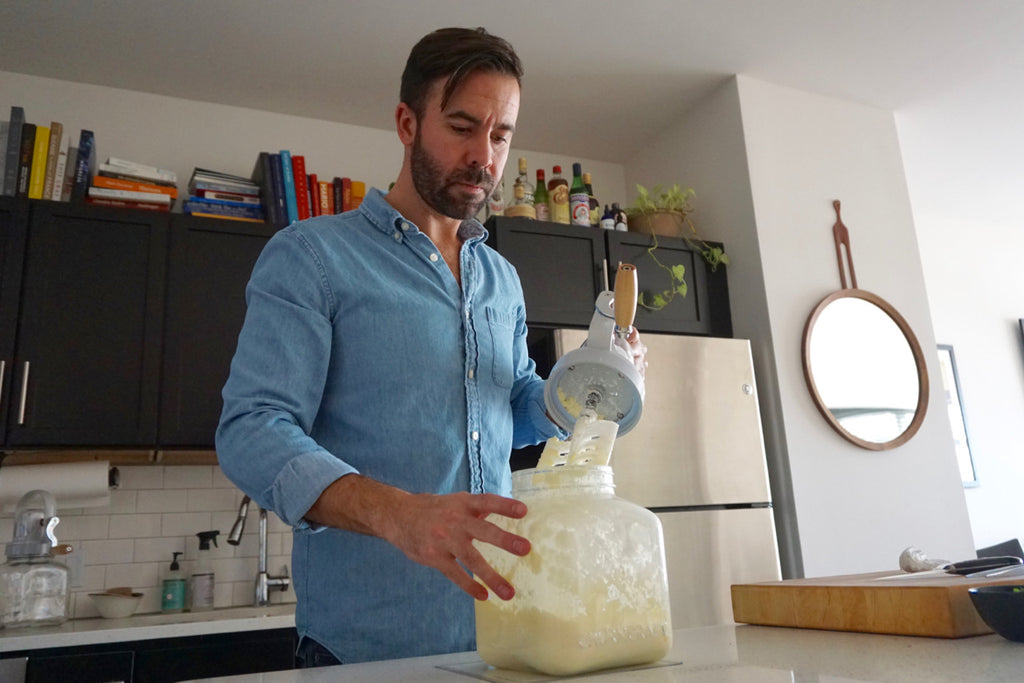 Luke Venner Making Butter with Churncraft