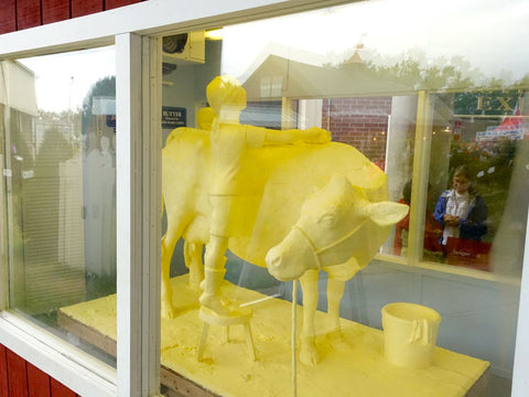 Butter sculpture cow