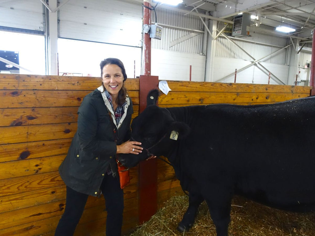 Kristin and a cow