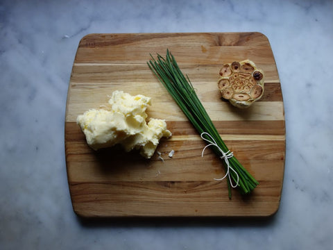 Roasted Garlic Chive Butter