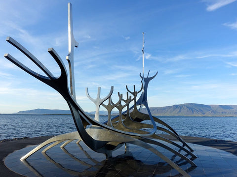 Viking Boat Sculpture Iceland