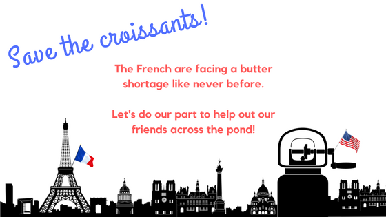 French butter shortage