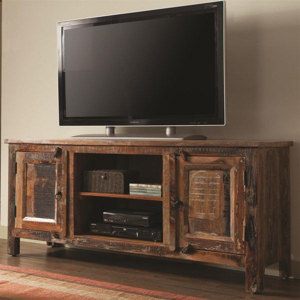 Reclaimed Tv Stand Media Console Cabinet
