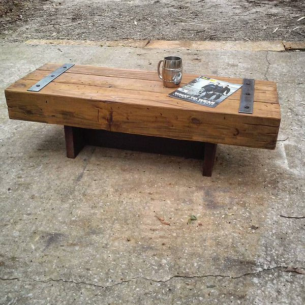 Chunky big timber coffee table gatsby timber for Large chunky coffee table