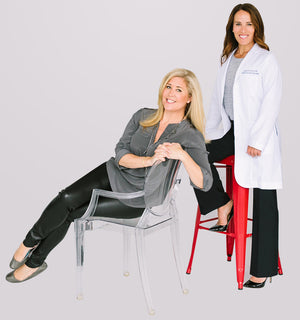 Colette Courtion & Dr. Sarah de la Torre, founders of Joylux, posed for a picture side-by-side.