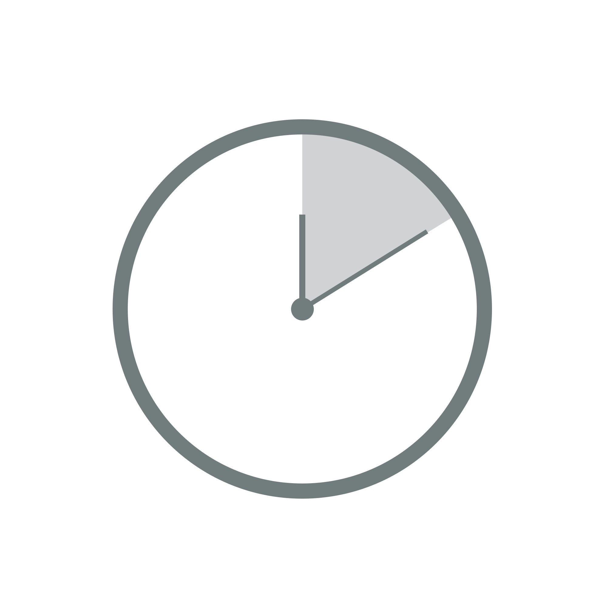 A clock graphic showing 10 minutes past.