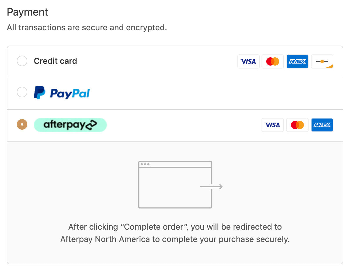 Afterpay Checkout