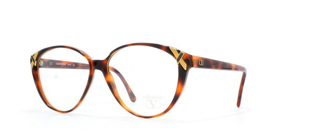 e6a297070009 Valentino 156 Rectangular Certified Vintage Eyeglasses Frame : Kings ...