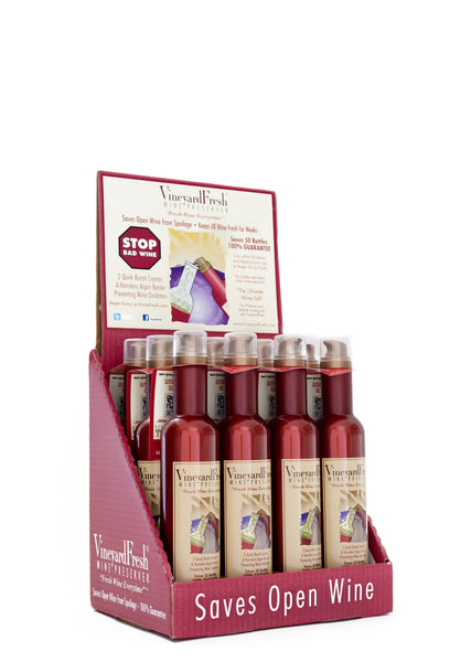 VineyardFresh Wine Preserver - Consumer 12 Pack