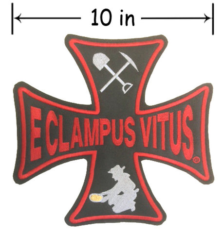 10 Inch ECV Iron Cross Back Patch