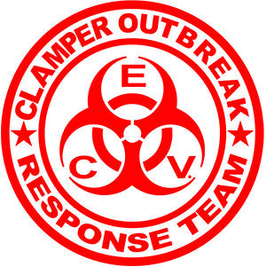 5 inch Clamper Outbreak Responce Team sticker