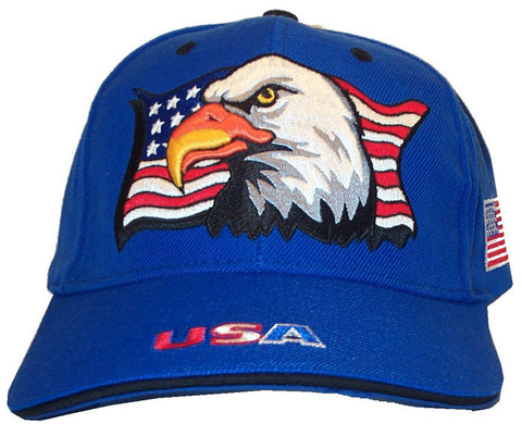 Royal Blue Patriotic Eagle Flag cap