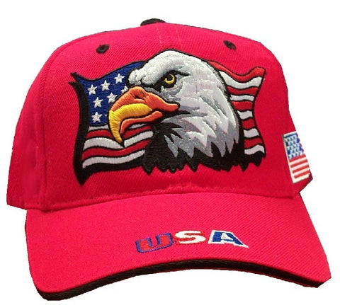 Red Patriotic Eagle Cap
