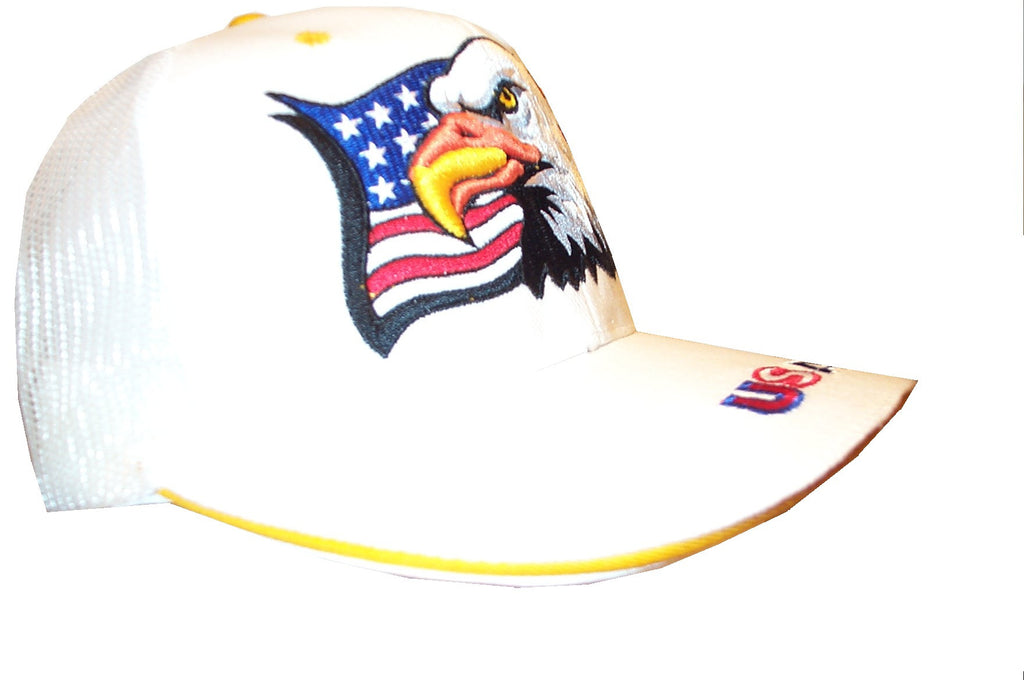 Patriotic Summer Eagle Flag cap