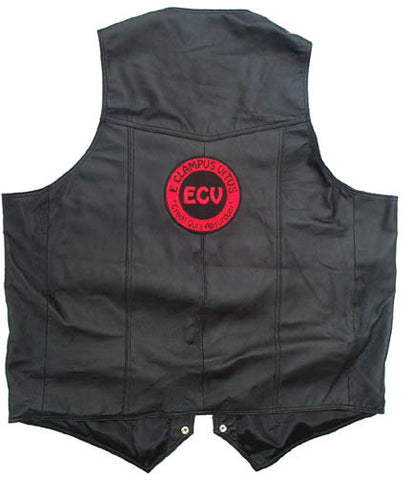 Vest ECV Leather Vest w/ 5 inch Patch