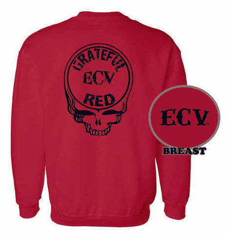 Grateful Red Heavy Duty Crewneck Sweatshirt