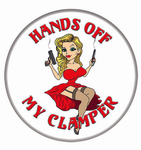 """Hands off My Clamper"" 2 1/4 in Button"