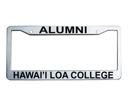 Hawai'i HLC College license plate frame