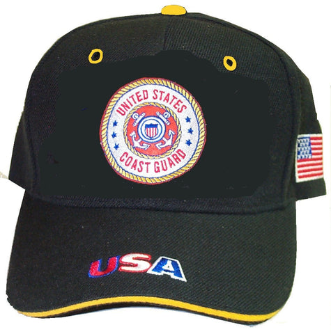 Black Coast Guard Cap