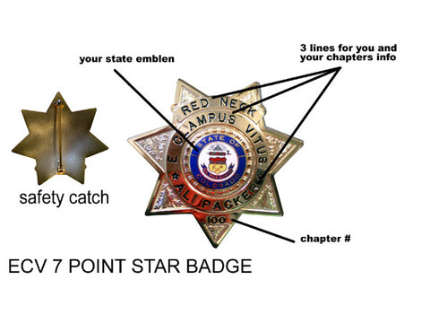 Badge 7 POINT ECV STAR BADGE