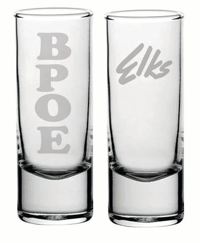 2 ounce BPOE Elks shot glass