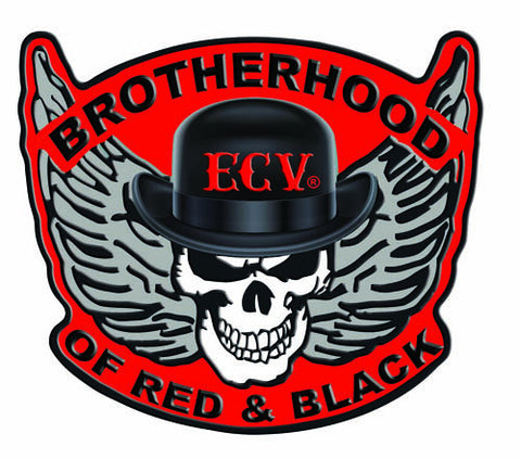 Brotherhood of Red and Black Sticker