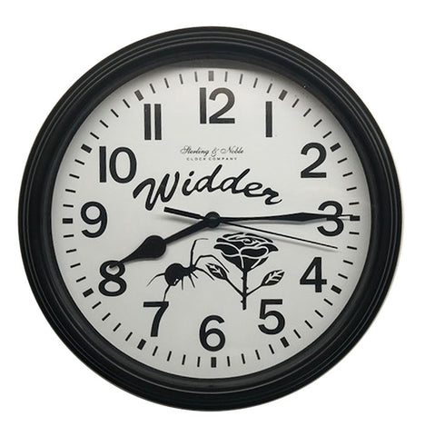 9 inch Black Widder Clock