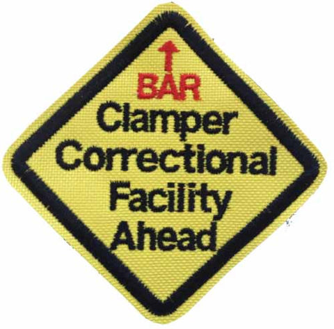 3 Inch Clamper Correctional Facility Patch